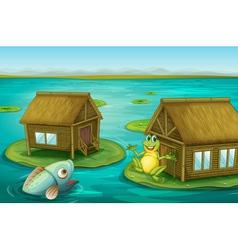 Frog cabin vector image vector image