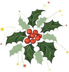 holly branch vector image
