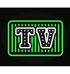 Light bulb neon TV show with creative retro vector image vector image