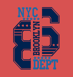new york brooklyn vector image vector image