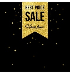 Sale golden shining label vector image vector image