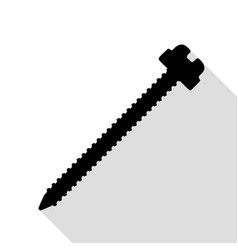 screw sign black icon with flat vector image