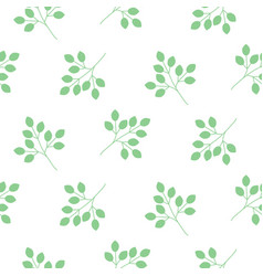 small leaves seamless pattern vector image