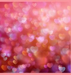 Bokeh background with hearts EPS 10 vector image vector image