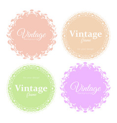 collection of elegant round vector image