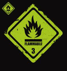 flammable sign grunge vector image vector image
