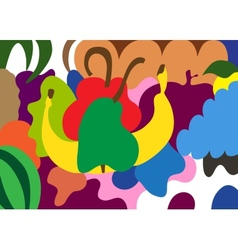 fruits - abstract background vector image