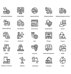 Logistic delivery icons set 9 vector