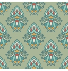 Luxury Damask vintage seamless pattern vector image vector image