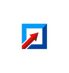 square arrow up logo vector image