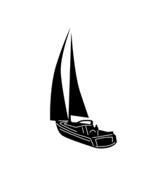 Yacht icon simple style vector image vector image