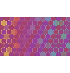 Abstract colorful hexagonal geometric background vector image