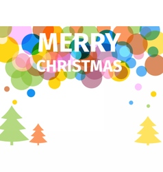 Retro colored christmas poster with trees vector image