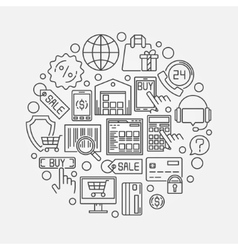 Shopping and ecommerce vector image