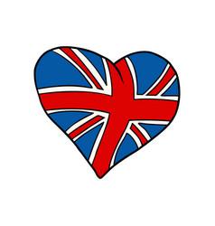 united kingdom heart patriotic symbol vector image