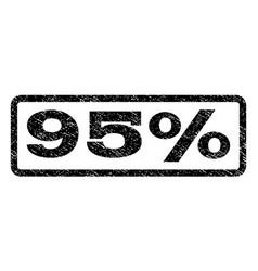 95 percent watermark stamp vector image
