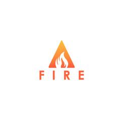 a letter logo fire flames logo design vector image