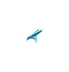 abstract bird logo icon vector image