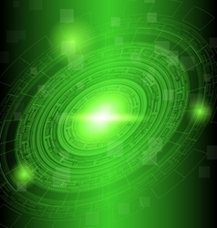 Abstract dark green technology background vector