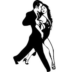 Abstract latino dancing couple vector