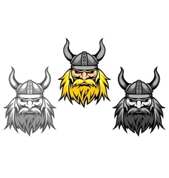 aggressive viking warriors vector image