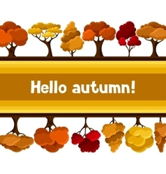 Autumn background design with abstract stylized vector image