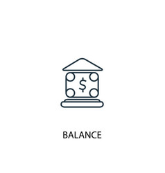 balance concept line icon simple element vector image