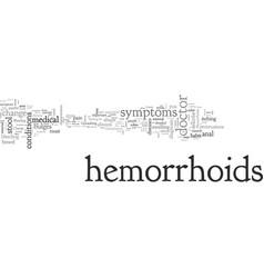 Be aware symptoms hemorrhoids vector
