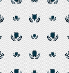 Blank award medal icon sign Seamless pattern with vector image