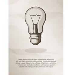 Bulb on grunge background Vintage Label Logo vector image