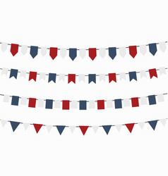 bunting flags for independence day colors usa vector image
