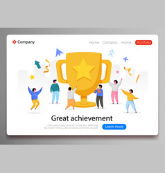 business team success achievement concept flat vector image
