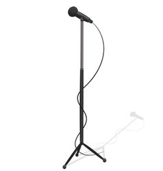 Cartoon microphone and stand vector