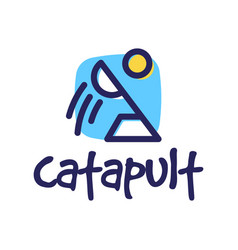 catapult logo icon in trendy design style vector image
