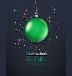 Christmas night party invitation layout vector