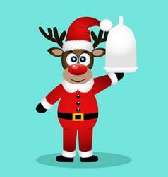 christmas reindeer christmas dinner vector image