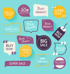 Collection of premium promo sealsstickers Isolated vector