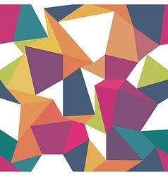 Colorful triangles Seamless abstract geometric vector image