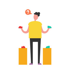 confused shopping man vector image