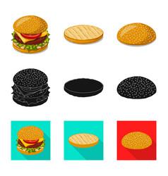 Design of burger and sandwich sign vector