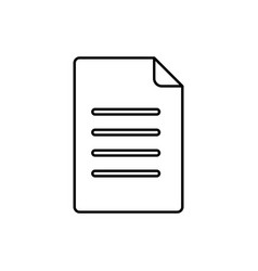 document icon file vector image
