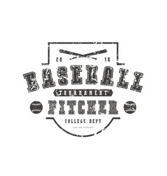 emblem baseball team vector image