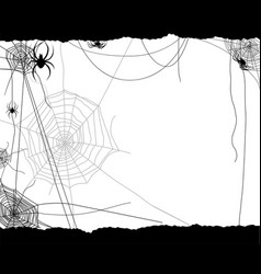 festive spiders and web vector image