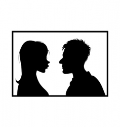 girl guy silhouettes vector image vector image