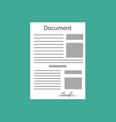 Hand keeping an document and another hand keeping vector