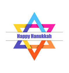 happy hanukkah hanukkah candles star of david vector image