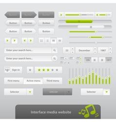 Interface Media Website vector