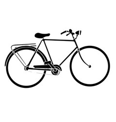 Isolated bicycle silhouette vector