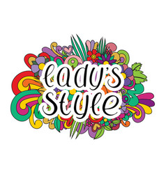 Lady style dance vector