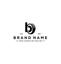 Letter b tire logo design vector